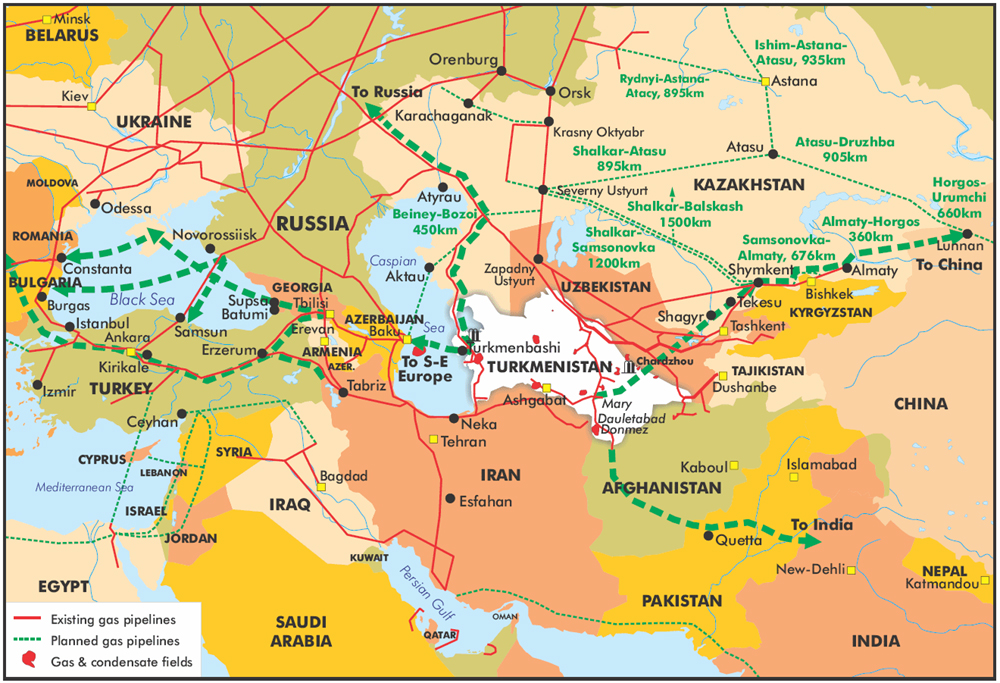 central-asia-map-gas transit