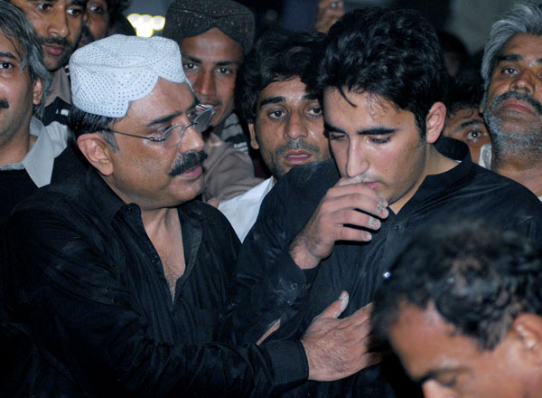 Bilawal with his father Zardari