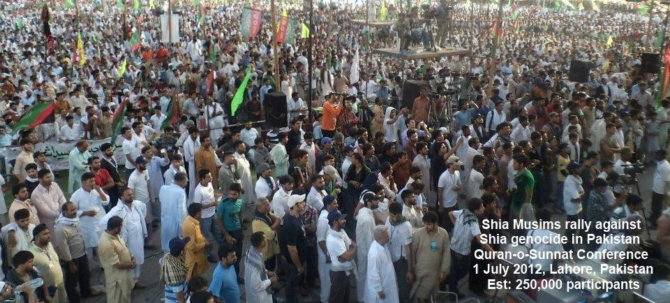 Shia Rally at Minar e Pakistan July 1st 2012