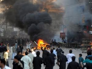 Rawalpindi burning