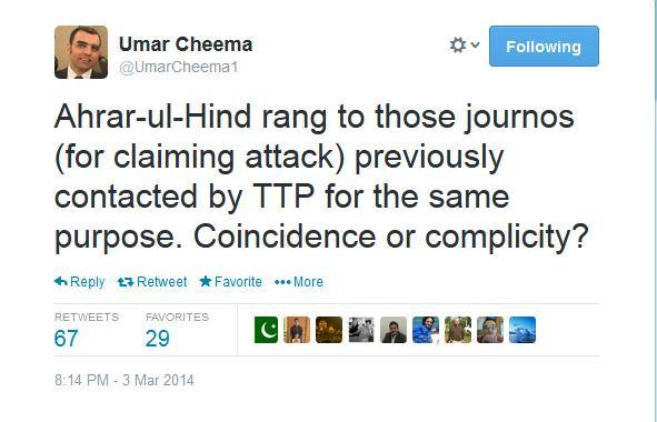 Journalist covering up for Deobandi Terrorists