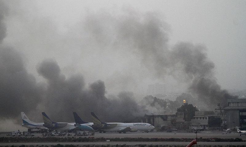 Smoke Karachi Airport