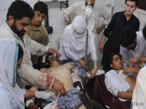 Car bomb by Takfeeri Kharijite Terrosists kills 12 in Peshawar